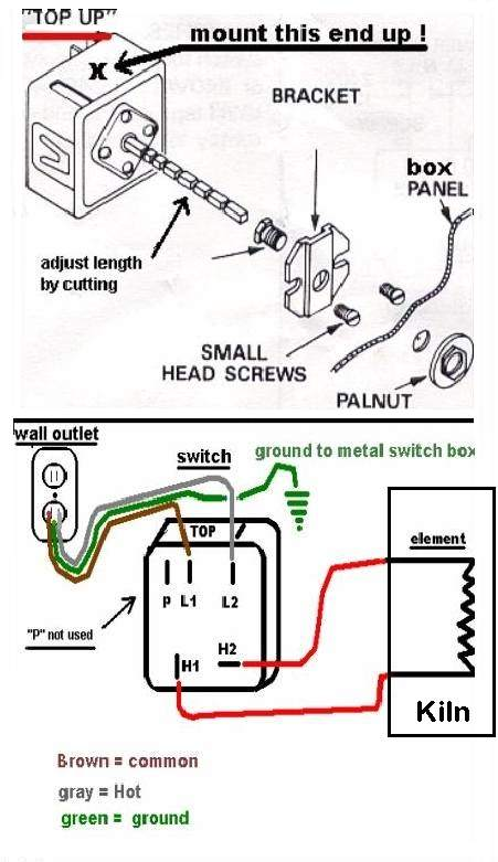 oven breaker box wiring diagram operate the kiln safely   operate the kiln safely